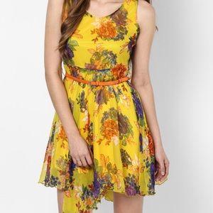 Multicoloured Colored Solid Shift Dress